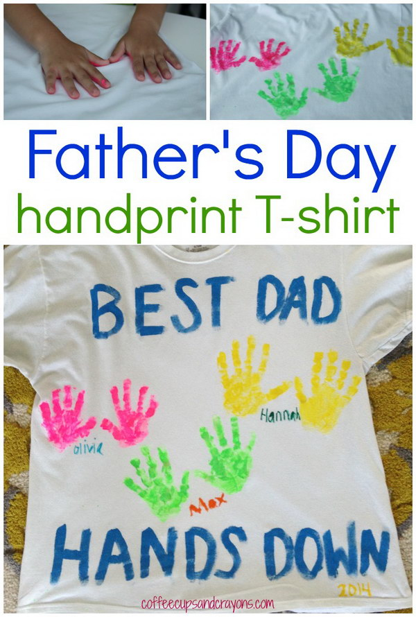 DIY Father's Day Handprint Shirt.