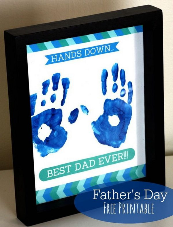 Hands Down Best Dad Handprint Frame