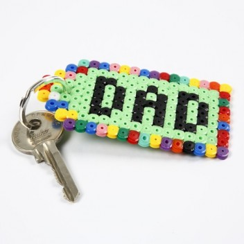 Perler Bead Keychains for Dad