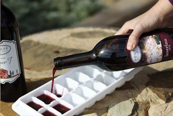 Make Ice Cubes With Leftover Wine