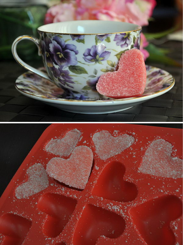 DIY Pink Sugar Hearts
