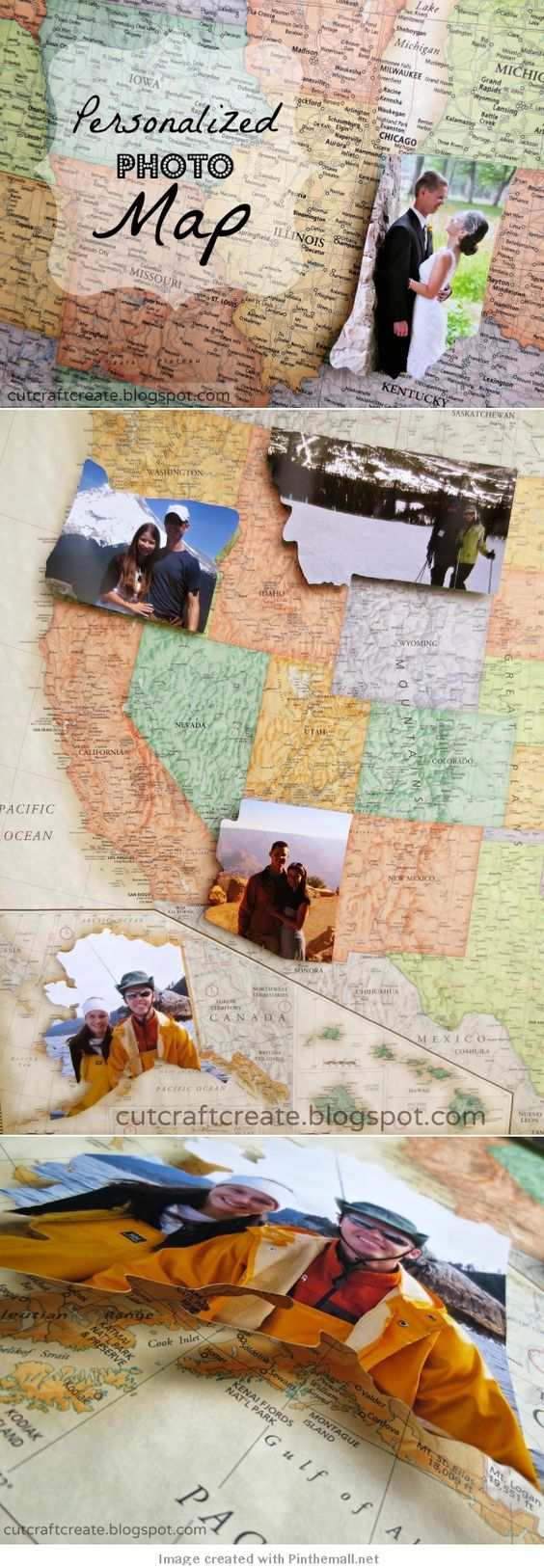 DIY Photo Travel Map to Commemorate All the Places You've Traveled to.