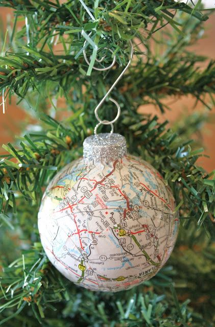 DIY Map Ornament.