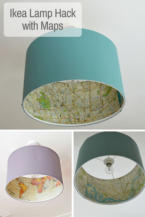 Decoupaged The Inside of Your IKEA Lampshade.