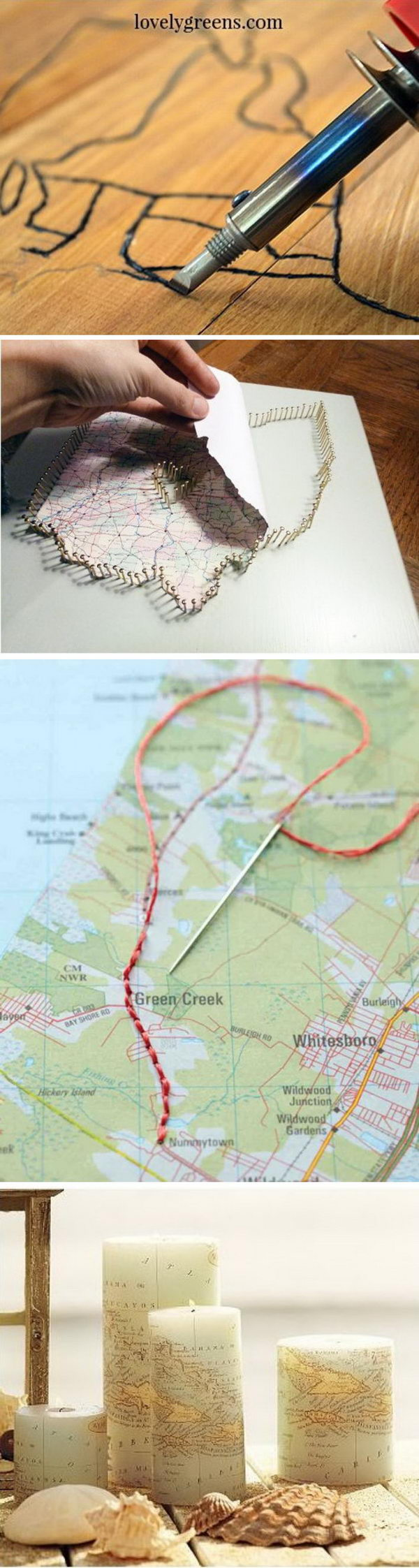 Travel Map Themed DIY Projects 20 Travel