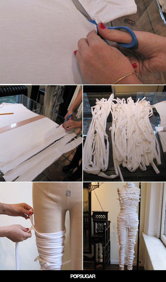This Mummy DIY Is the Cool, Last-Minute Costume You've Been Waiting For.