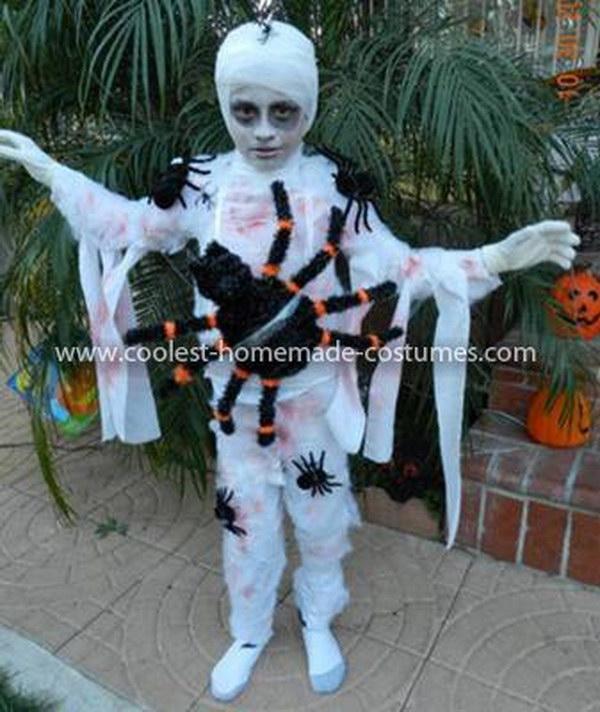 DIY Mummy Spider Webbed Costume