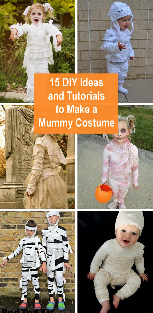 15+ DIY Ideas and Tutorials to Make a Mummy Costume.
