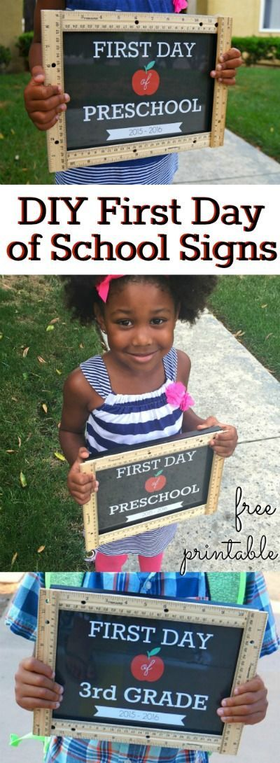 DIY First Day of School Signs Ruler Craft.