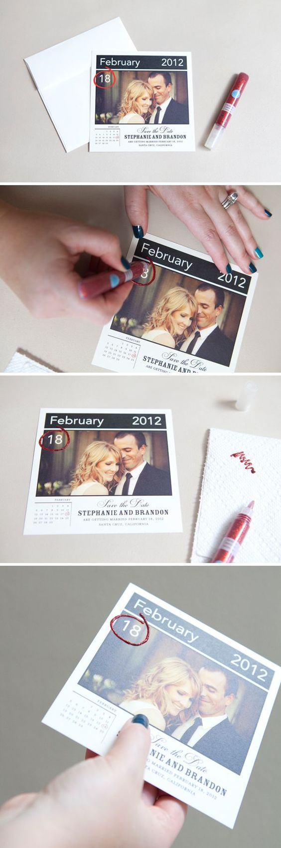 Easily Embellished Save The Dates.
