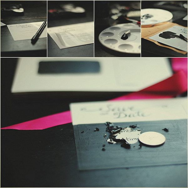 Scratch Off Save the Date Cards Tutorial