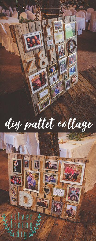 DIY Wedding Pallet Collage.