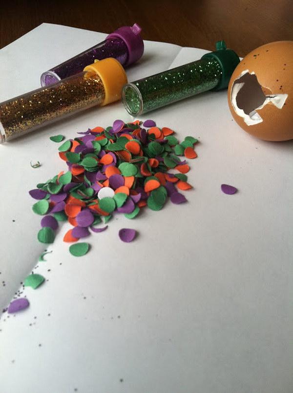 A Message in a Confetti Egg Save the Date Idea