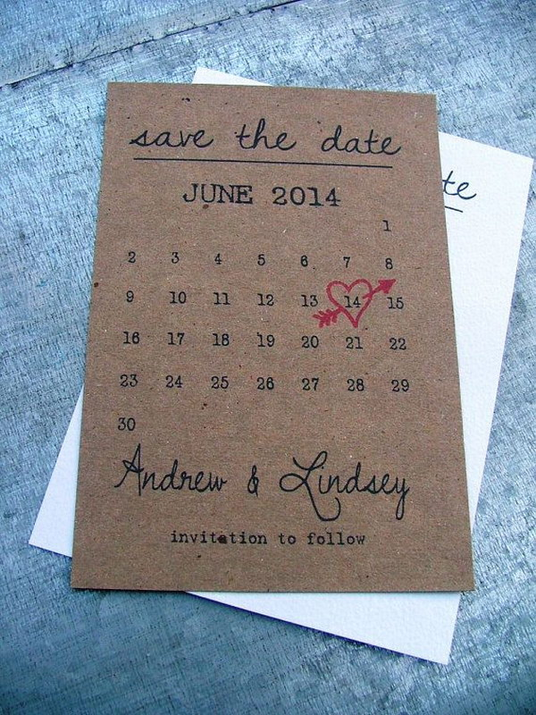 Printable Save the Date Cards