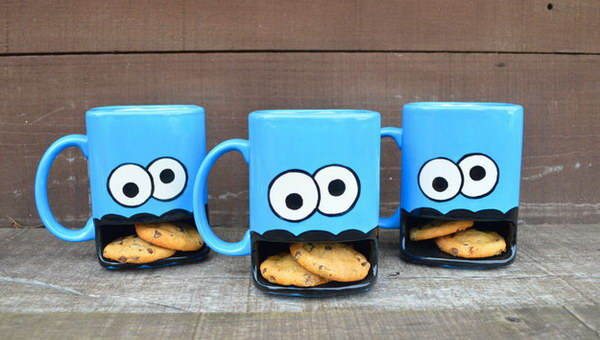 Ceramic Milk and Cookies Mug.