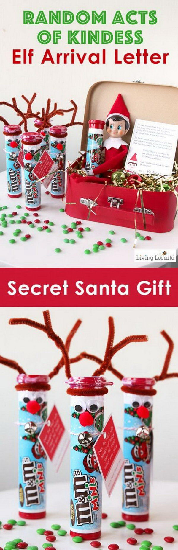 DIY Rudolph the Red Nosed Reindeer Candy Gift.