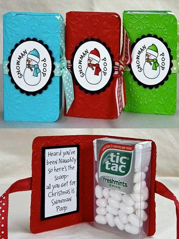Snowman Poop as Christmas Gift.