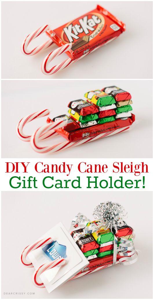 DIY Candy Cane Sleigh.