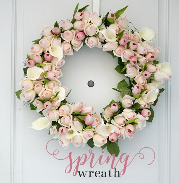 DIY Spring Rosebud Wreath