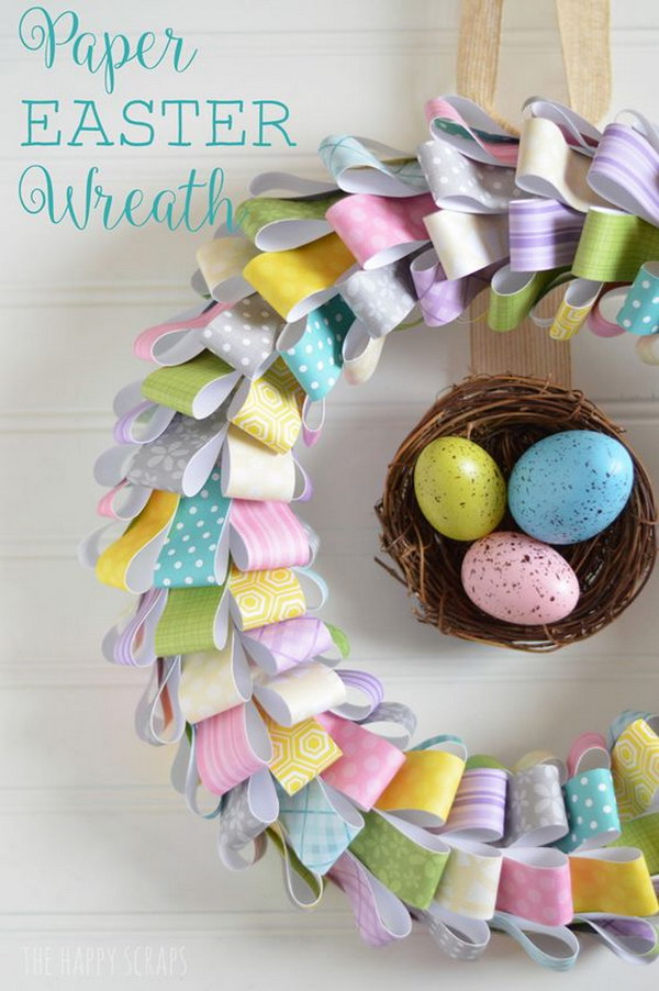 DIY Paper Easter Wreath