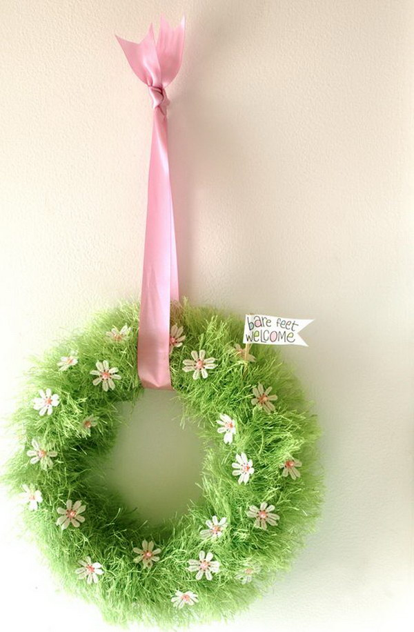 Spring Baby Grass Wreath