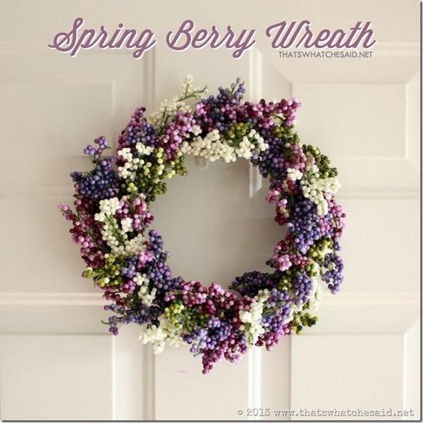 DIY Spring Berry Wreath