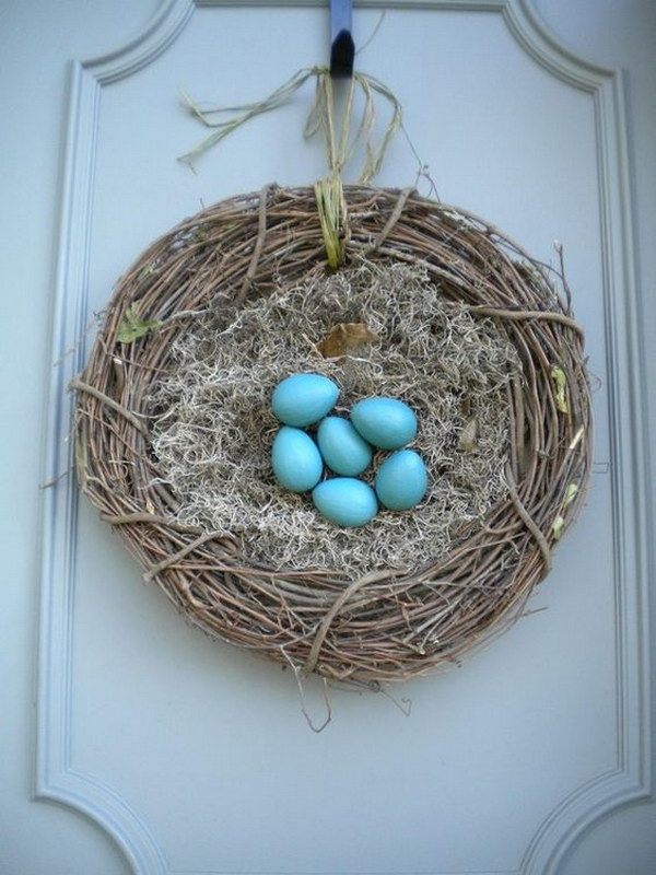 Nest Wreath with Easter Eggs