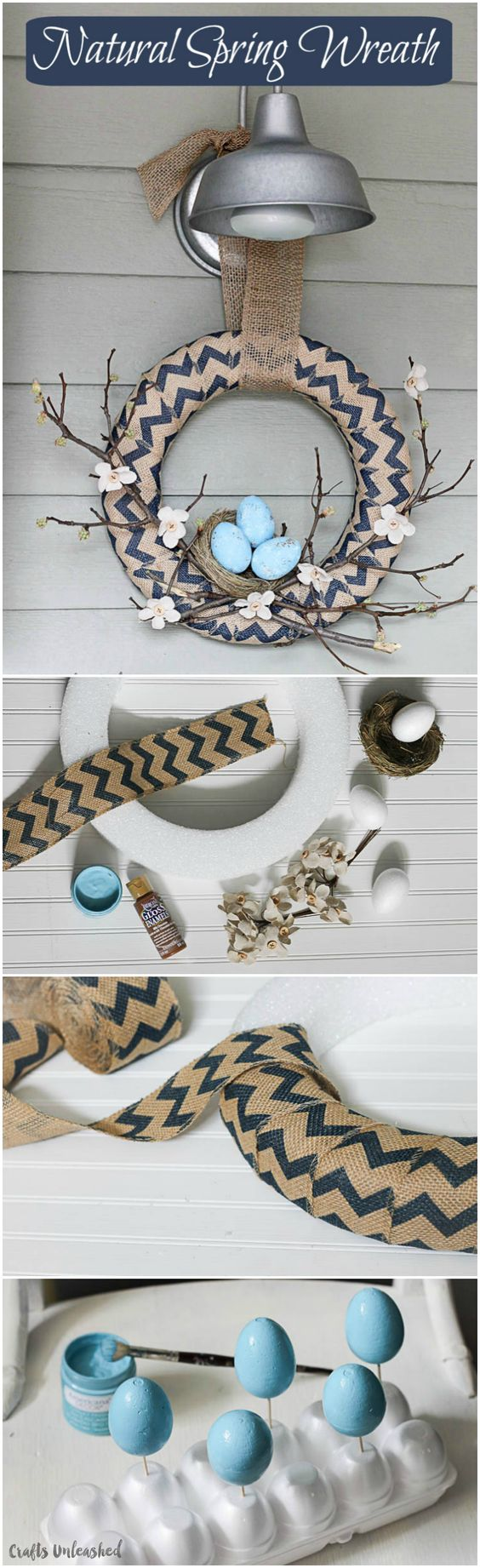 Spring Wreath with Bird Nest Accent.