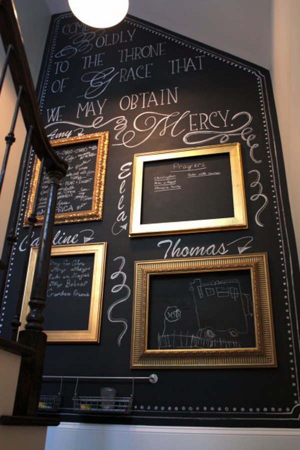 DIY Budget-friendly Chalkboard Paint Wall.