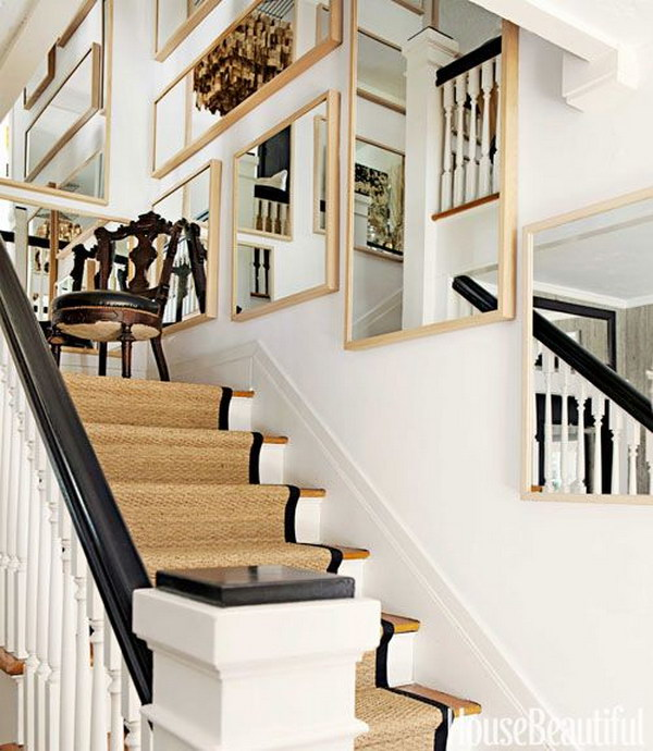 80 Modern Farmhouse Staircase Decor Ideas: 40 Ways To Decorate Your Staircase Wall 2018