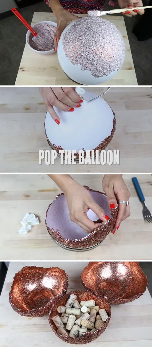DIY Glitter Bowls.