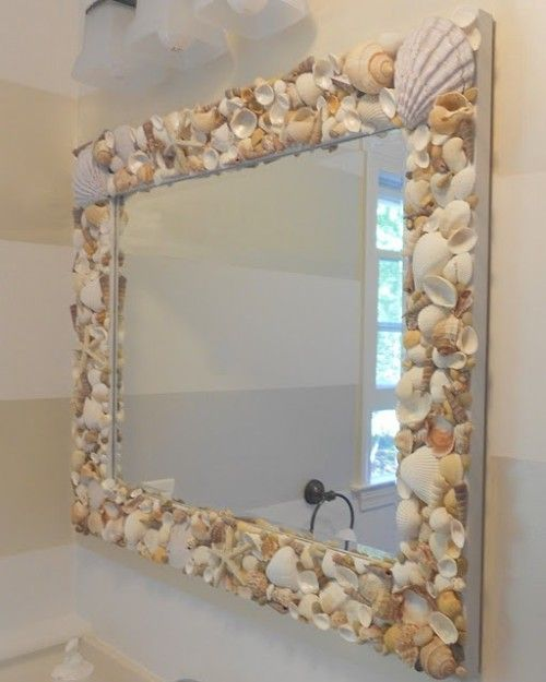 DIY Shell Mirror.