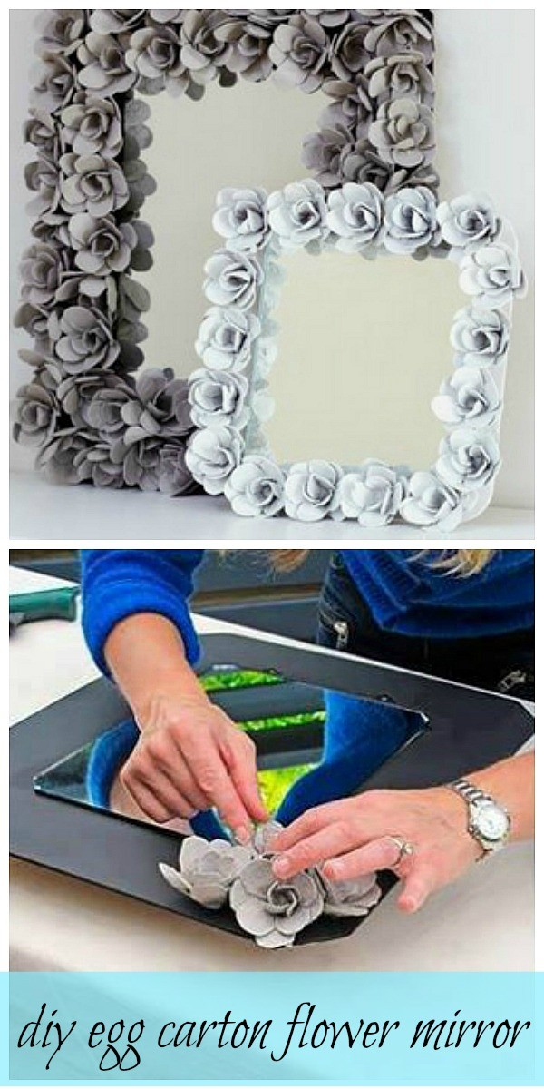 Egg Carton Flower Mirror.
