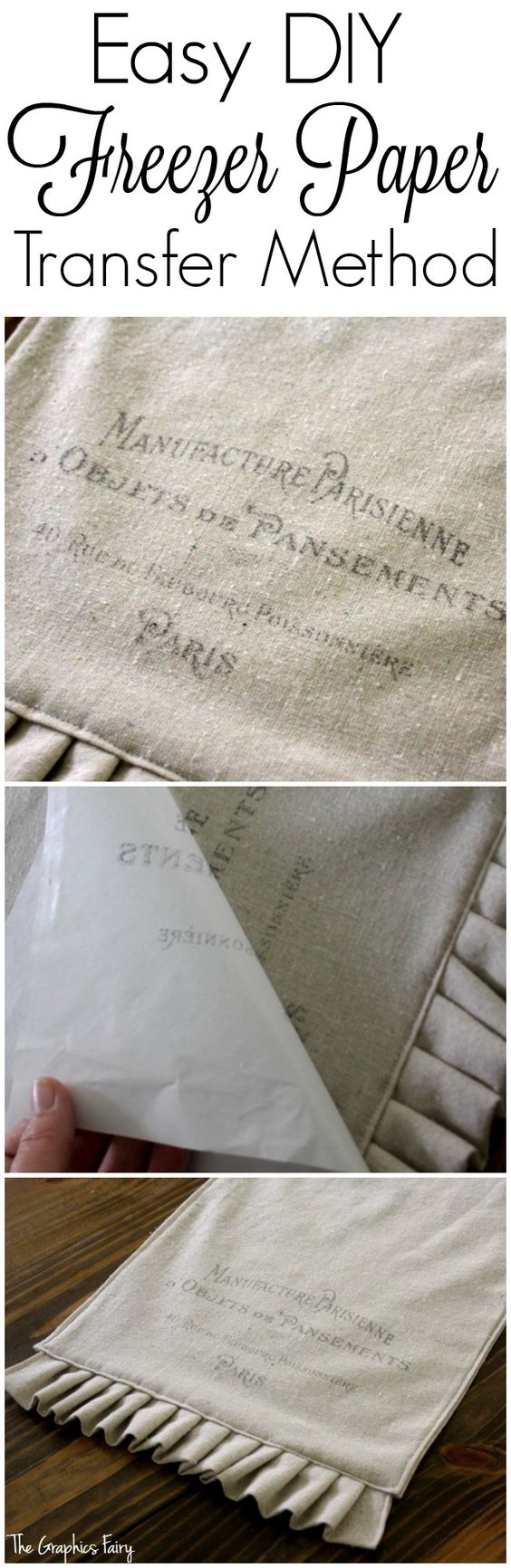 Easy DIY Freezer Paper Transfer.