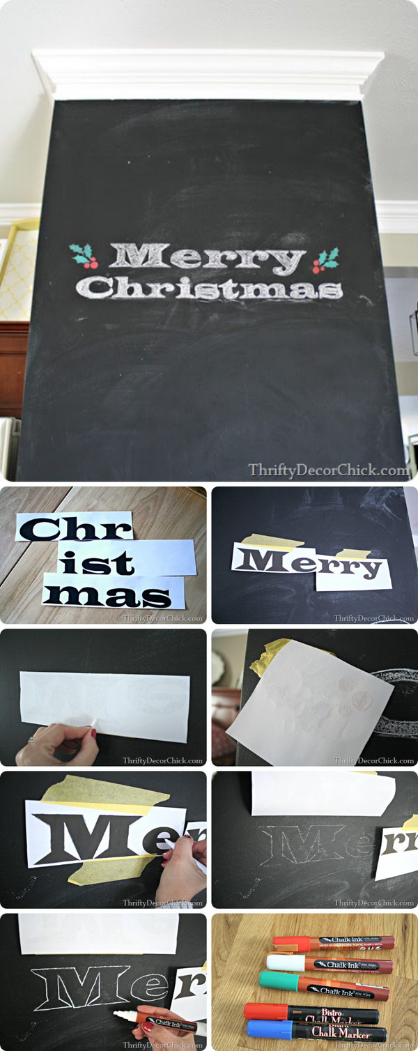 Easy Way To Transfer Images To A Chalkboard.