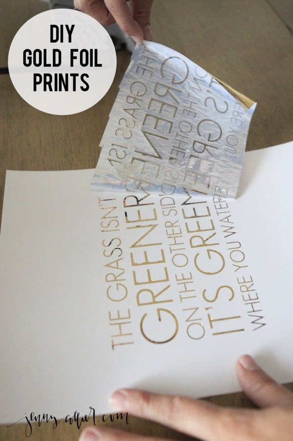 DIY Gold Foil Prints.