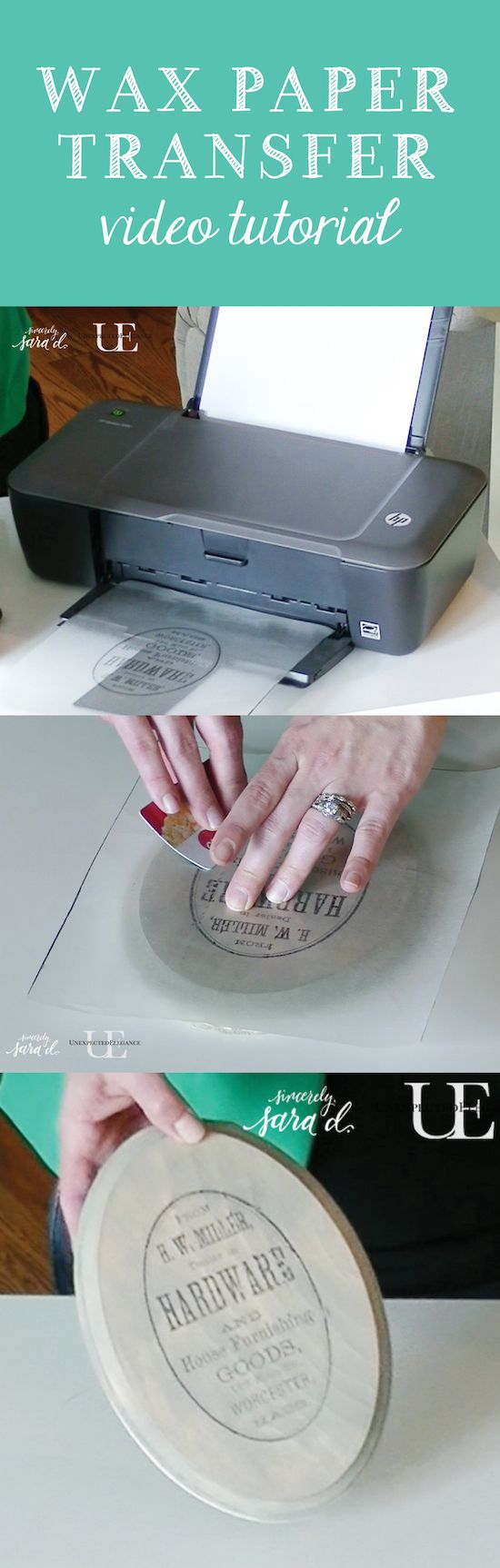 Wax Paper Image Transfer.