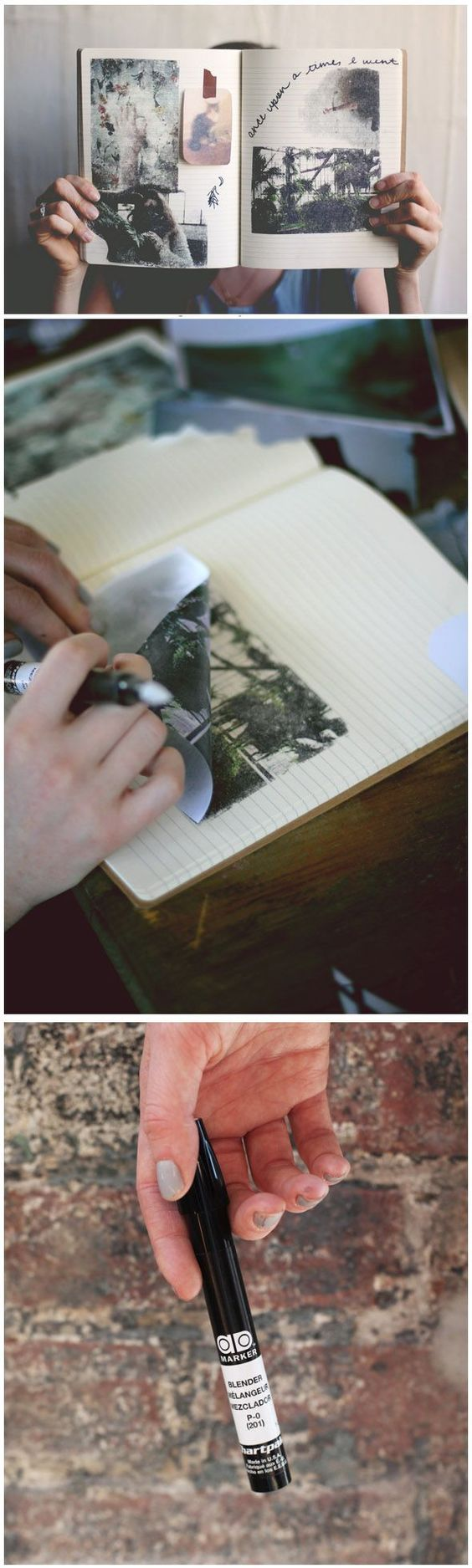 Instant Photo Transfers With Blender Pens.