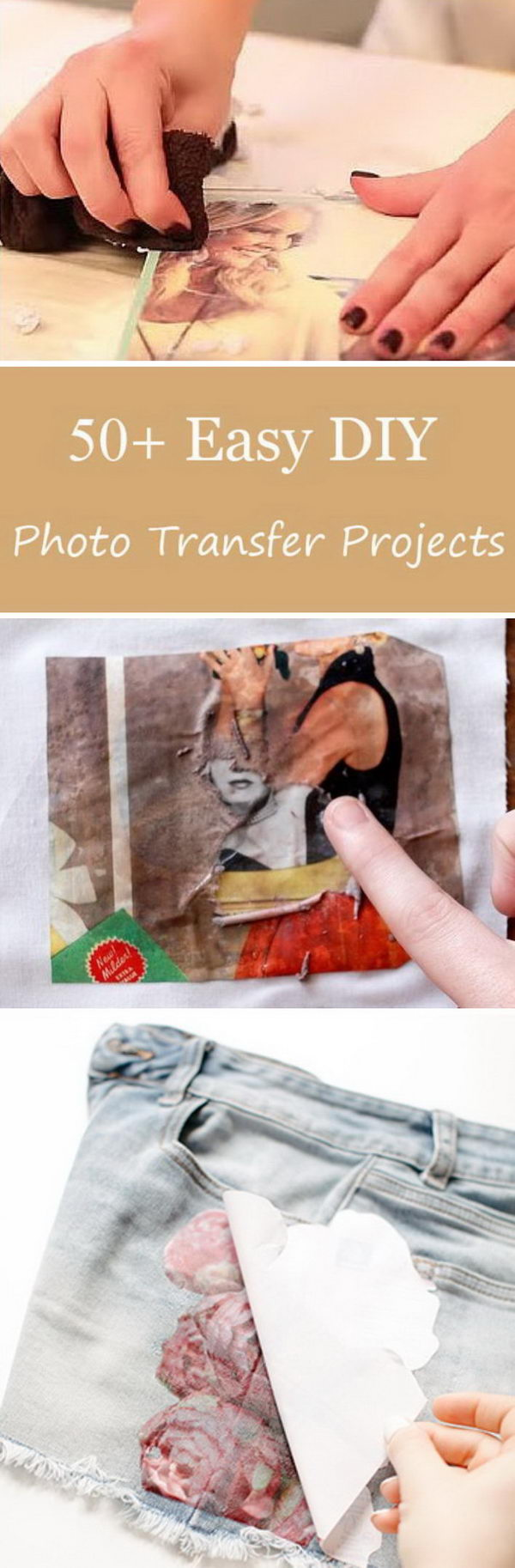 Easy DIY Ideas and Tutorials to Tranfser Photos.