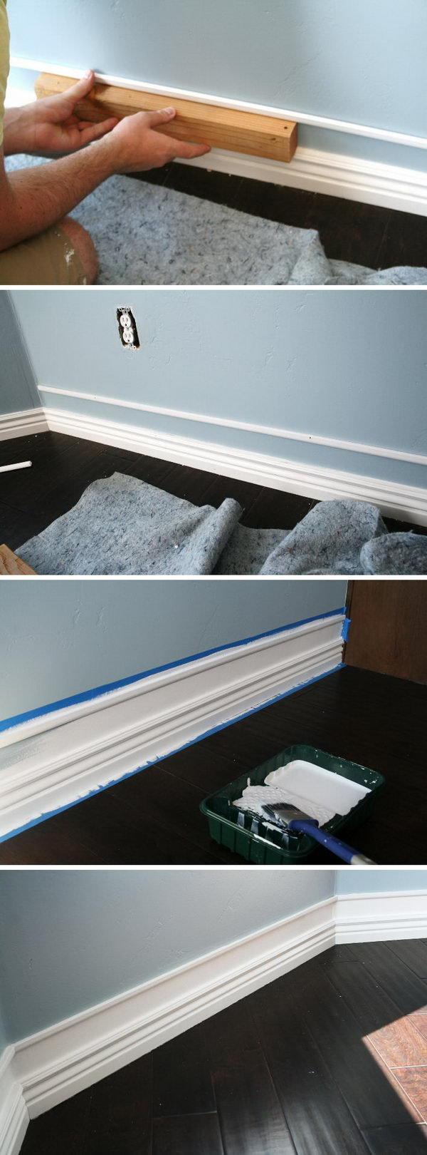 Easy Faux Thick Baseboard Project.