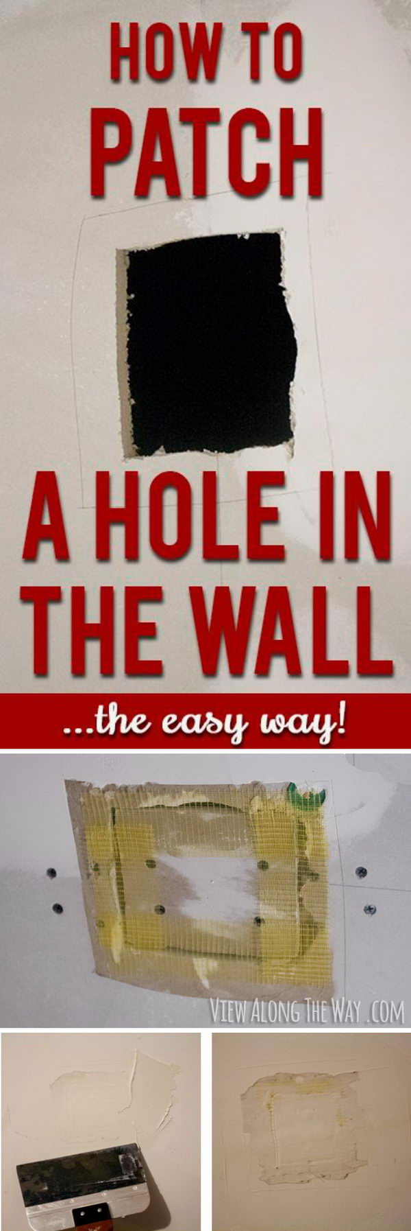 How to Repair Holes in Drywall.