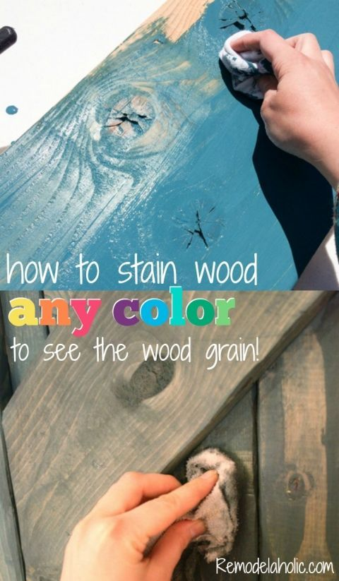 Use paint to color wash and stain wood any color with the wood grain still showing through.