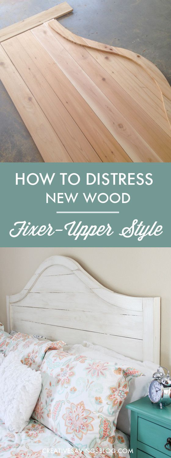How to distress new wood into Joanna Gaines signature style.