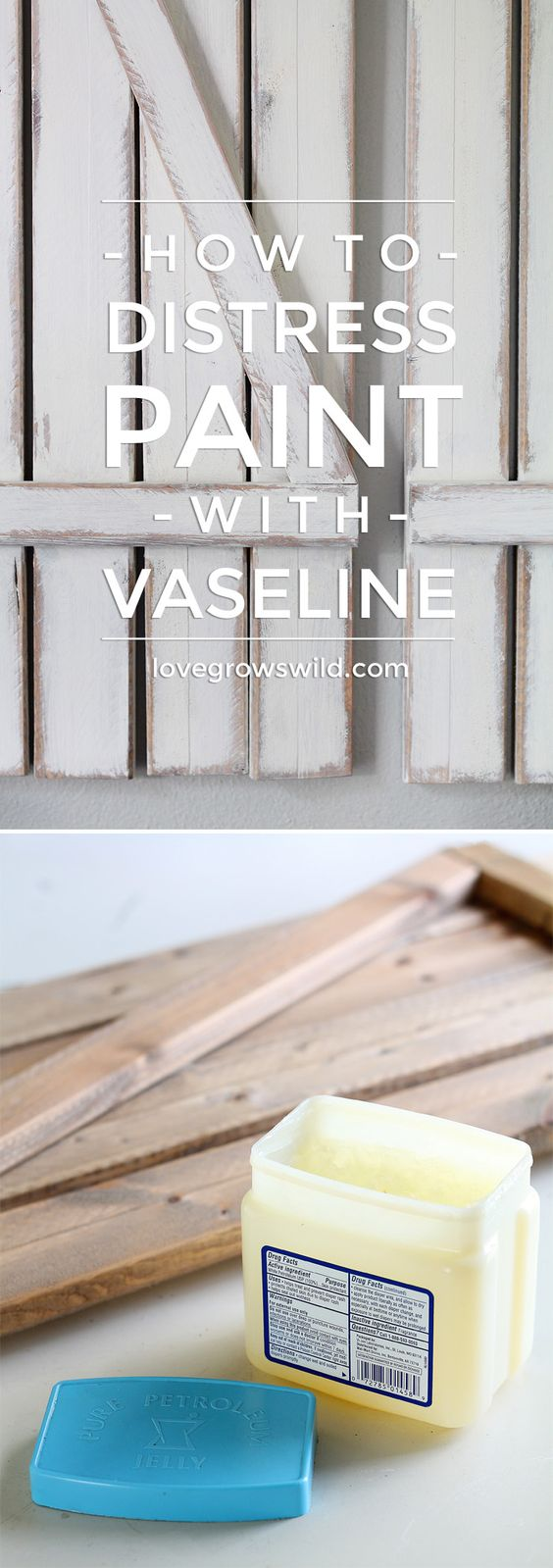 How to distress paint the easy way using vaseline.