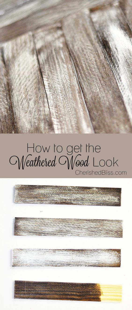 Make new wood look old.