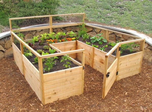 Deer Proof Cedar Complete Raised Garden Bed Kit.