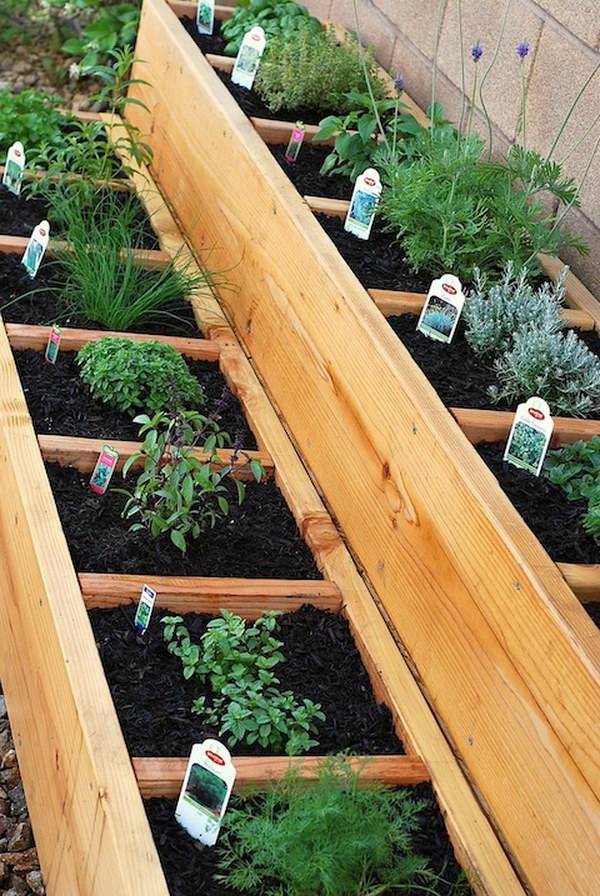 Divided Raised Herb Garden Bed