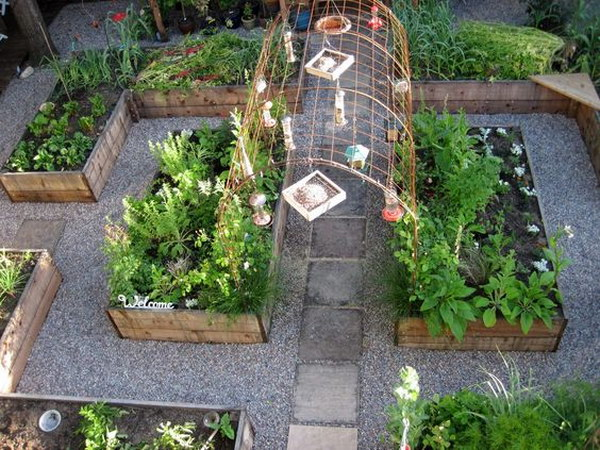 Raised Garden With Arbor That Would Be Perfect For Growing String Beans.