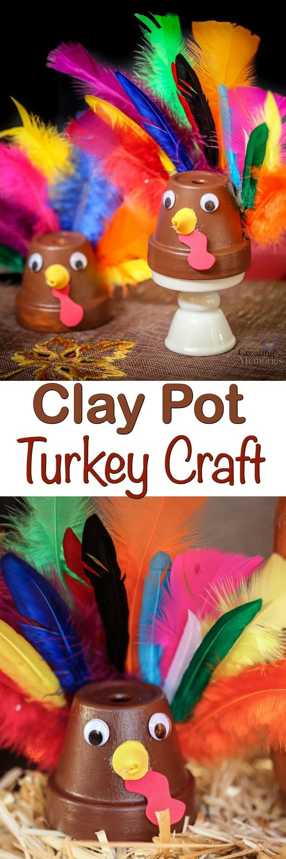 Easy Clay Pot Turkey Craft.