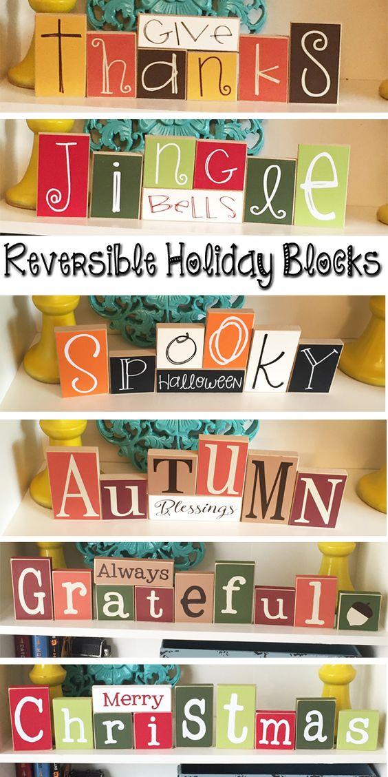 Reversible Holiday Blocks.